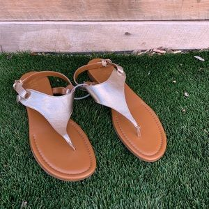 Franco Sarto Gold Sandals Women's Size 13